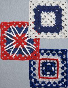 Patriotic squares ~ free pattern