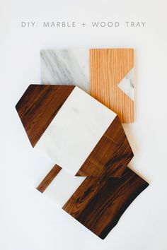 DIY :: MARBLE + WOOD CHEESE BOARD - coco+kelley