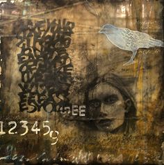 """""""When I Could Not See"""" encaustic mixed media www.shaunminne.com Mixed Media, My Arts, Movie Posters, Mixed Media Art, Film Posters, Billboard, Mix Media"""
