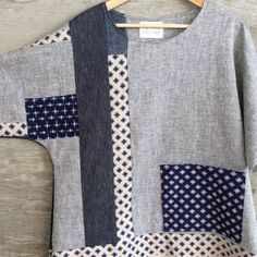 pieced tunic, with japanese cottons, hemp & organic cotton--& a big pocket! / susaneastman.com