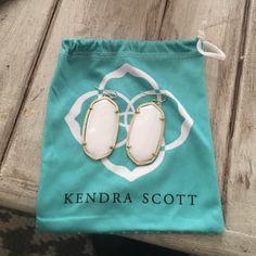 White pearl Kendra Scott Danielle earring Kendra Scott white Danielle's, in excellent condition, barely worn Kendra Scott Jewelry Earrings