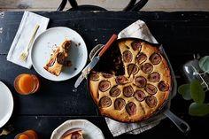 Cornbread Coffee Cake With Walnut Streusel & Figs