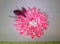 A personal favorite from my Etsy shop https://www.etsy.com/listing/224750665/adorable-zebra-pink-and-white-flower-w
