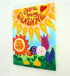 Canvas Art For Kids YOU ARE my SUNSHINE 12x16 Art for by nJoyArt, $125.00