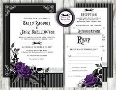 Superior Nightmare Before Christmas U0027Skellington Stripeu0027 *Digital Printable Wedding  Invitation Set* PACKAGE U0026
