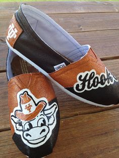 University of Texas - Painted Custom TOMS or BOBS