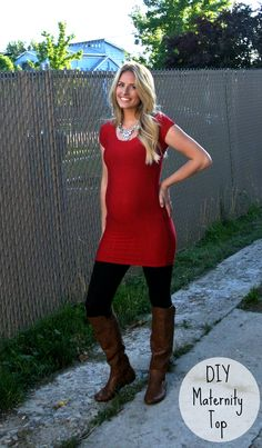 Really simple tutorial of how to make a cute maternity shirt.