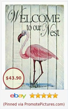 Tropical Design, Free Advertising, Bottle Painting, Love Is Free, Pink Flamingos, Wall Signs, Invitations, Wood, Fun
