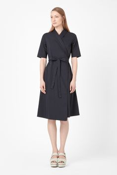 Shawl collar wrap dress