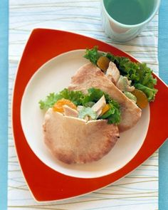 Chicken salad pitas.....Lunch Recipes | How To & Instructions | Martha Stewart