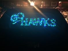 Made the LED lights for the back of my car.  Go Hawks!