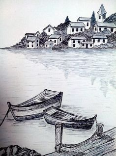 Drawing ideas pencil sketches boat 25 Ideas – My CMS Pencil Sketches Landscape, Landscape Drawings, Pencil Art Drawings, Art Drawings Sketches, Cute Drawings, Simple Drawings, Easy Doodles Drawings, Easy Disney Drawings, Boat Drawing