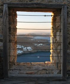 Astypalaia Castle, Greece Also an interesting picture. Oh The Places You'll Go, Places To Visit, Best Savings, Window View, Through The Looking Glass, Greek Islands, Greece Travel, Nice View, The Good Place