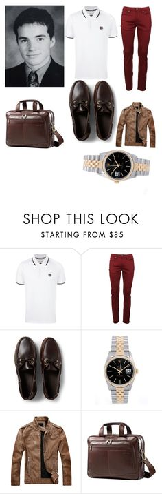 """Prince Henry ""Charming""- Cinderella"" by hannahkaymusic ❤ liked on Polyvore featuring Kenzo, Burberry, Sperry, Rolex, Samsonite, men's fashion and menswear"