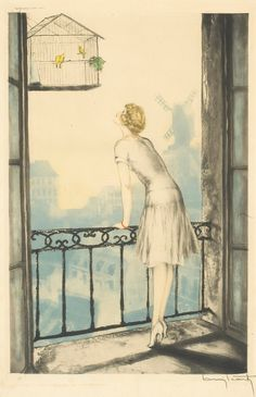 Reminds me of my sister, and the birthday trip she took me on to Paris. Louis Icart  'Montmartre'  1928