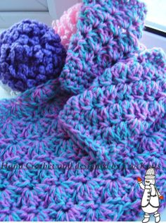 """""""New"""" Crochet Shells & Scallops Cowl & Mitts Pattern available for immediate PDF download @Craftsy"""