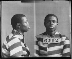Photograph of Marshall Robinson, No. 6712, Records of the Virginia Penitentiary, Series II. Prisoner Records, Subseries B. Photographs and Negatives, Box 77, Accession 41558, State Records Collection, Library of Virginia.