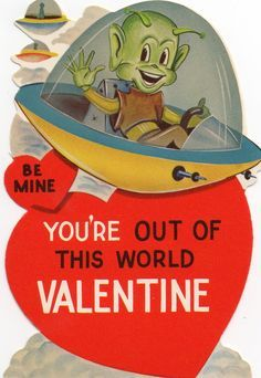 just recently started collecting old valentine cards this one was purchased at antiques minnesota i love the little green man