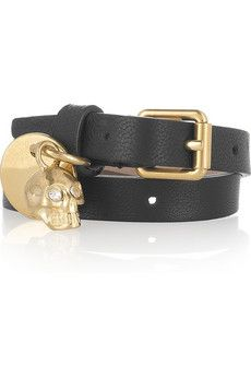 I would so pay the couple hundreds for this - alexander mcqueen jewelry: skull wrap bracelet.