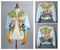 Vintage Moschino Bomber Jacket ~ Be Kind to Animals Royalty Logo Jacket by labellevintage on Etsy
