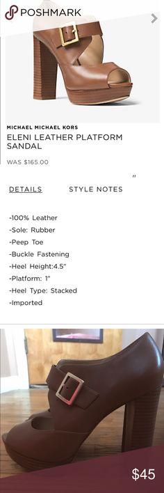 Michael Michael Kors Eleni platform heels Lightly used Michael Kors platform peep toe heels MICHAEL Michael Kors Shoes Heels