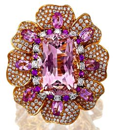 Pink Sapphire, Spinel, Morganite RING