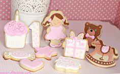 galletas para celebrar el primer año de la pequeña Amanda, preciosas!