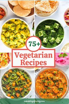 Whether you are a strict vegetarian or trying to include more plant based meals in your diet, this collection of tried and tested, easy vegetarian recipes will help you find foods you will love. #ministryofcurry #vegetarian Vegetarian Main Meals, Veggie Recipes Healthy, Vegetarian Recipes Videos, Healthy Indian Recipes, Curry Recipes, Easy Chicken Recipes, Vegan Recipes, Instant Pot Curry Recipe, Instant Pot Dinner Recipes