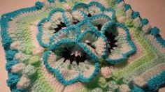 mini 3d granny square - Google Search Crochet Flower Squares, Flower Granny Square, Crochet Puff Flower, Granny Square Crochet Pattern, Crochet Mandala, Crochet Flower Patterns, Crochet Stitches Patterns, Crochet Granny, Crochet Motif