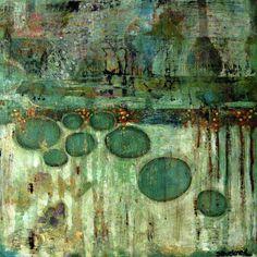 "Suzan Buckner : ""2011-34-Abstract"", acrylic on wood"