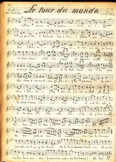 Partition musicale 1900 bis