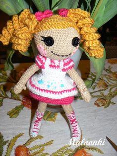 Lalaloopsy kleksolina doll lalaka crochet amigurumi