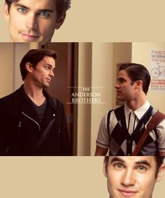 the anderson brothers. #darrencriss #mattbomer #glee