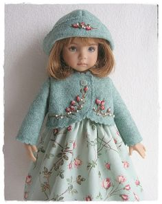 Aqua Felt coat for Little Darling