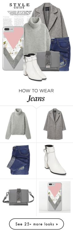 """""""Get The Look. White Ankle Boots"""" by artbyjwp on Polyvore featuring MANGO, Karl Lagerfeld and Steve Madden"""