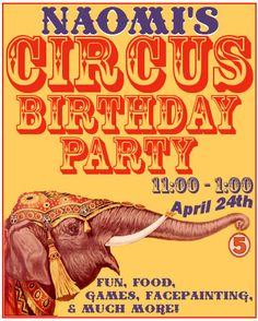 straight from a ringling bros poster Birthday Flyer, Circus Birthday, Vacation Bible School, Event Themes, Vintage Circus, Print Ads, Safari, Birthdays, Elephant