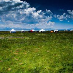 Yurt camp at Son-Kul #kyrgyzstan #travel #trip #triptokg #traveling #travelgram #adventure #Padgram