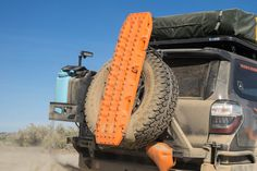 The quickest way to attach MAXTRAX to your vehicle that's equipped with a rear mounted spare tire. Perfect for the Jeep Wrangler and other vehicles that come from the factory with a tire on the back d