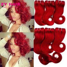 Brazil Tóc Weave Gói Với Đóng Cửa Màu Tinh Khiết Burgundy Tóc Giá Rẻ Bó 5 cái Với Đóng Cửa Rosa Tóc Sản Phẩm BFF tóc