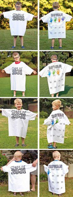 Rowan's Back-to-School Shirt with Handprints: Kindergarten Update!