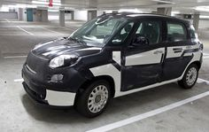 Ingepakte Fiat 500L in Amerika