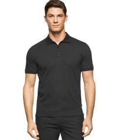 CALVIN KLEIN Calvin Klein Men'S Liquid Cotton Polo Shirt. #calvinklein #cloth # polos
