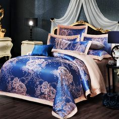 Senior silk bedding sets 4pcs lace bed sets king queen size tencel bed clothes satin tencel silk/cotton bed covers new  #Affiliate