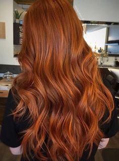 Burnt Orange Hair Color, Red Copper Hair Color, Ginger Hair Color, Hair Color Auburn, Hair Color Highlights, Copper Ombre, Orange Red, Auburn Hair Copper, Ginger Brown Hair