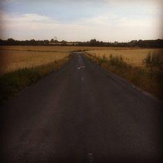 Route de Saclay à travers les champs.