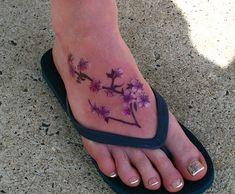 cherry blossom foot tattoo | Flickr - Photo Sharing!