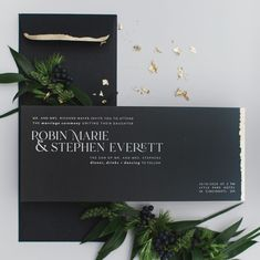 @poemestationery posted to Instagram: Can you wear navy with black? Yes! Can you pair navy + black in wedding stationery? It's an absolutely stunning combination especially when its done ombre. We paired navy with black and hand-applied gold leaf for a contemporary and luxe celebration. Link in bio to see the full wedding! Photography @amandadonahophotography Venue @lytleparkhotel Planner @kmcweddings Florals @martiyaheard Linens @nuagedesignsinc Cake @tresbellecakes Chargers, flatware…