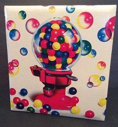 Lisa Frank Vtg 1988 Gumball Machine Gum Scrapbook Album Coverset Bubbles