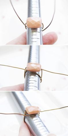 Use a bead and make it with wire from there diy-jewelry-wire-wrapping-wire-jewelry-diy-jewelry-holder-diy-jewelry-organizer-wire-wrapped-jewelry-wire-wrap #wirejewelry