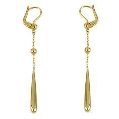 bdb1cffe7b9cde 14 Karat Yellow Gold Diamond Flower Earrings. See more. Dangling Modifiers  | Mrs. Jones & Company Gold Earrings Designs, Gold Drop Earrings,
